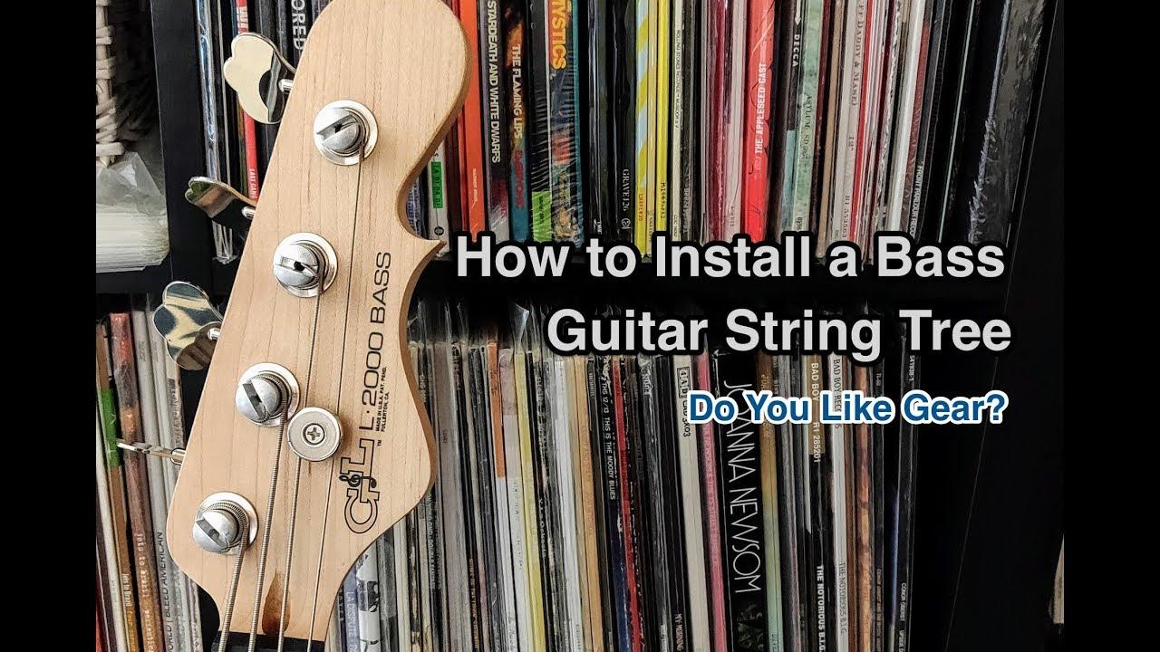 Satz von 4 Gitarrensaiten Tree String Retainer für Gitarren Bass