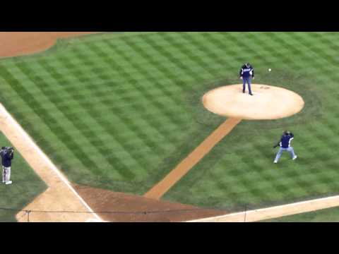 Kenny Rogers First Pitch