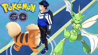 WILD Rare SCYTHER Caught | POKEMON GO | MAX Level Dragonite Epic Gym Battle!