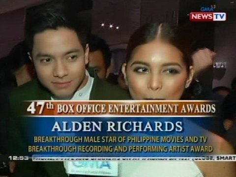 Alden Richards at Maine Mendoza, Breakthrough Star Awardees ng 47th Box Office Entertainment Awards
