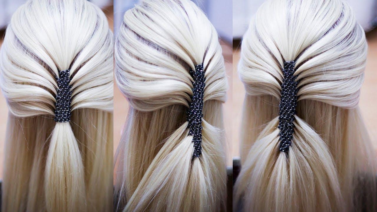 Коса с цепочкой Быстрая причёска из косы Hairstyle tutorial