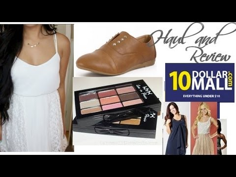 Budget Fall Fashion and Makeup Haul! 10DollarMall com Review (Cheap  shoes,clothes,and NYX Cosmetics)