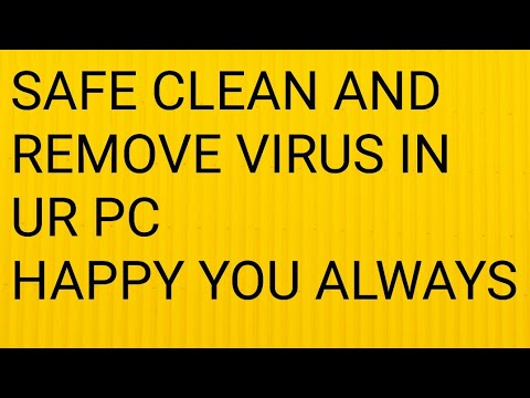 HOW TO CLEAN OR REMOVE ALL VIRUS IN UR PC OR LAPTOP 100% FREE
