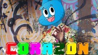 Gumball sing Corazón by Maluma ft Nego do Borell [official cartoon video]
