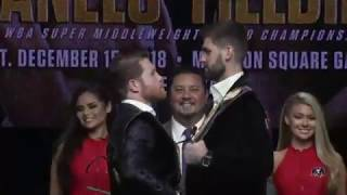 ROCKY FIELDING v SAUL CANELO ALVAREZ - HEAD TO HEAD @ NEW YORK PRESS CONFERENCE / FIELDING v CANELO