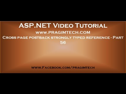 Cross page postback strongly typed referencePart 56