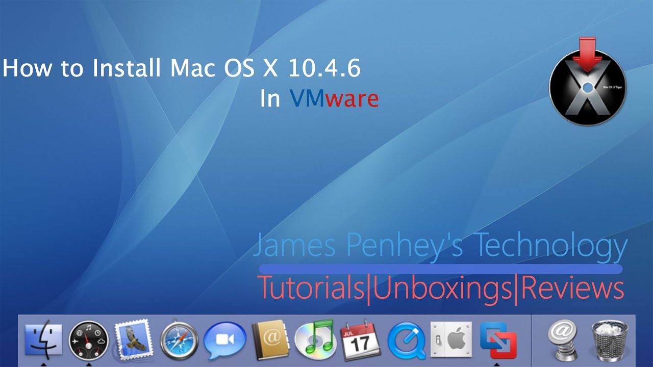 How to install mac os x 10 4 tiger youtube for Innenarchitektur mac os x