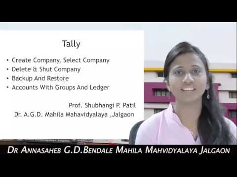 BCA: Tally by Shubhangi Patil