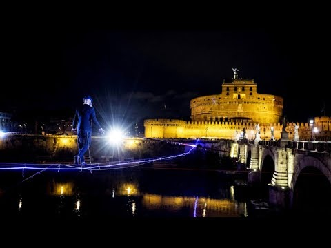 Tightrope walker in first ever attempt to conquer Rome's Tiber River