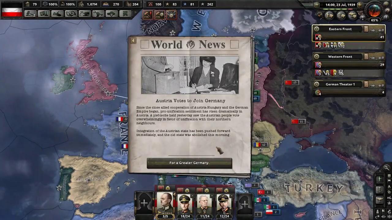 Austria-Hungary Unifies With German Empire | HoI4 Beta 1 5 2