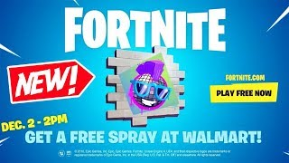 How To UNLOCK Exclusive WALMART SPRAY In Fortnite! (Fortnite Spray)