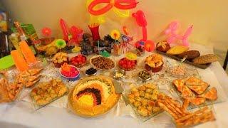 видео детская еда на день рождения