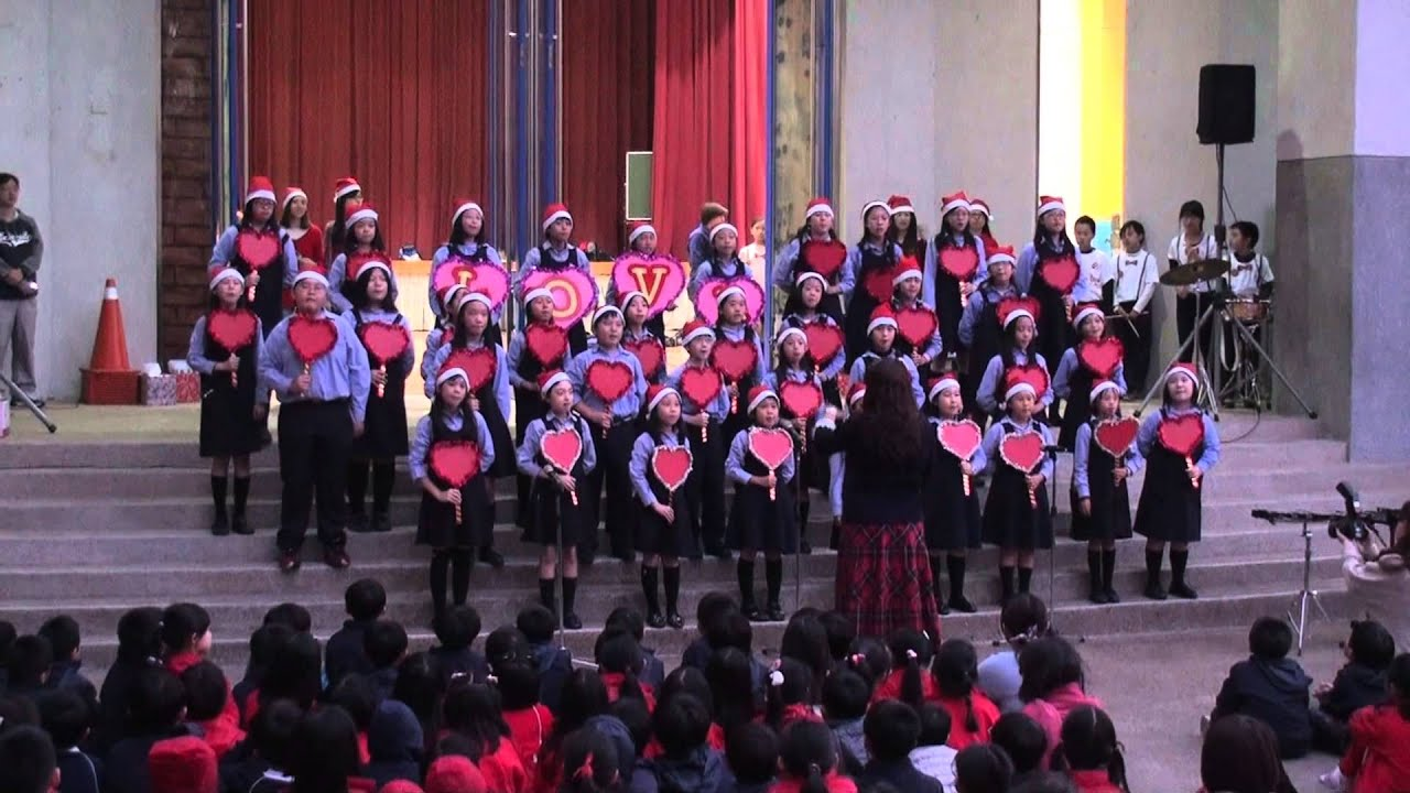 明道普霖斯頓小學2013聖誕點燈(2)~合唱團表演 - YouTube