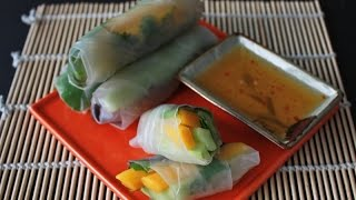 Mango Avocado Spring Rolls With Dipping Sauce