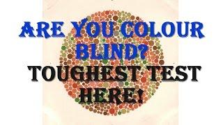 Colour Blindness Toughest Test- ISHIHARA