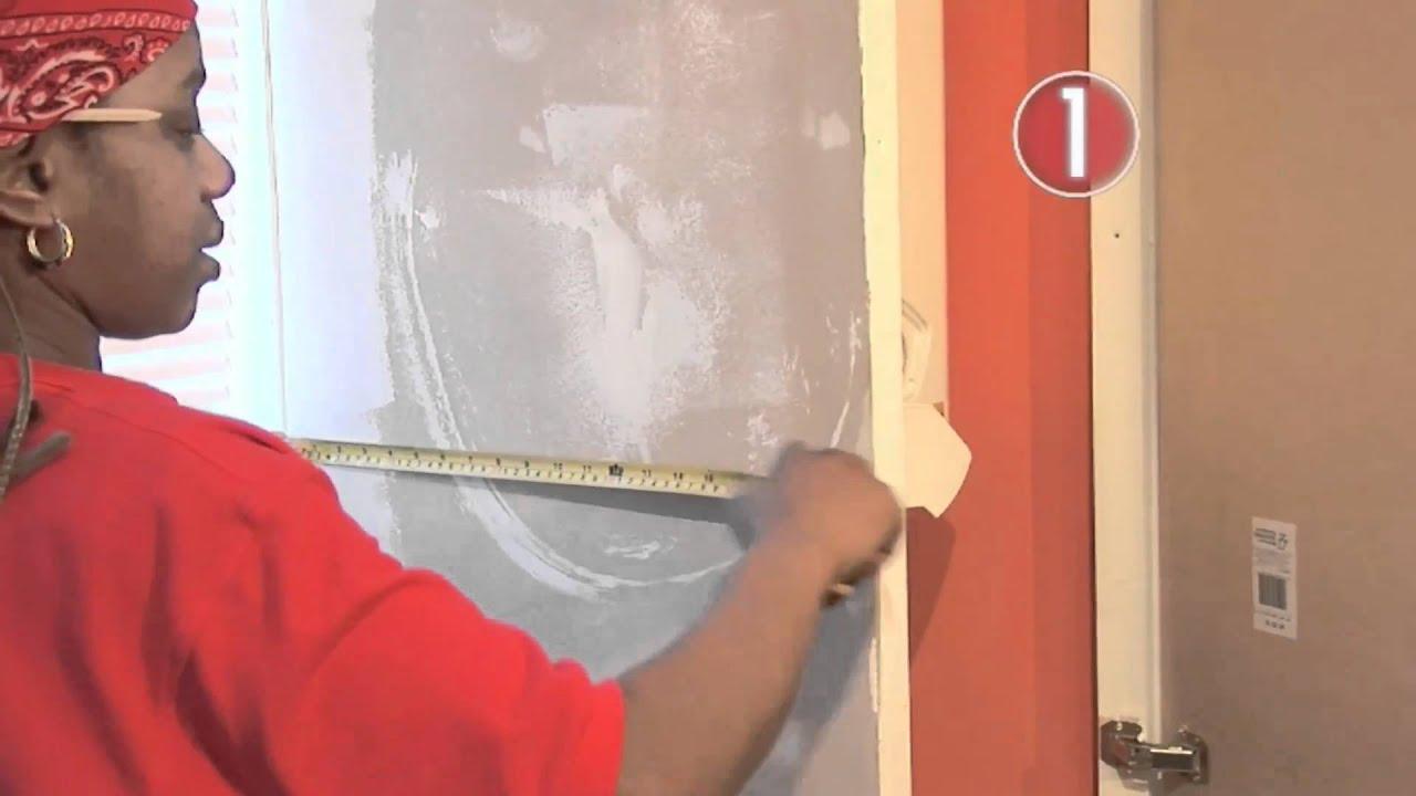 How To Wallpaper Around Corners - YouTube