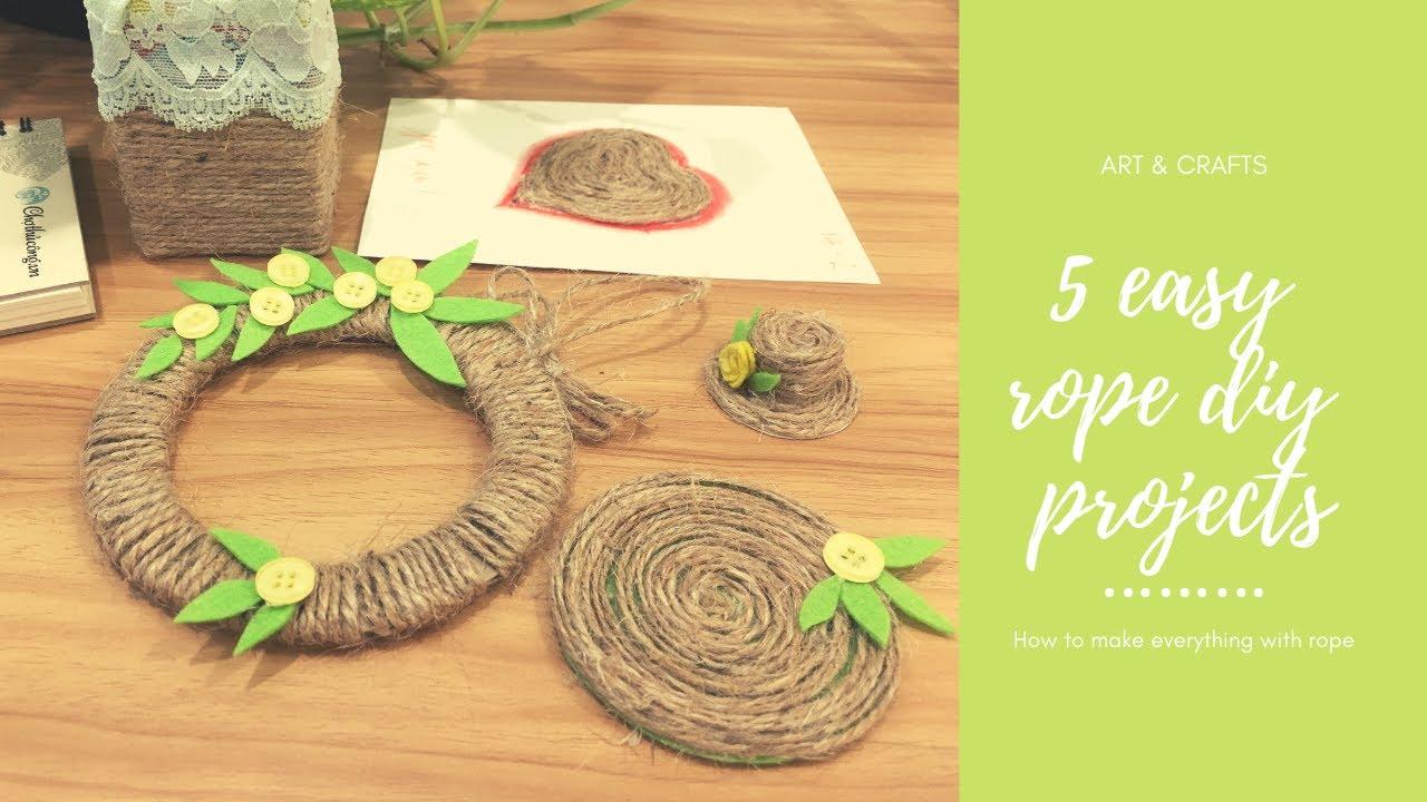 Handmade Với Dây Thừng | DIY rope ideas