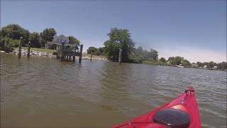 kayaking deale maryland under blue skies