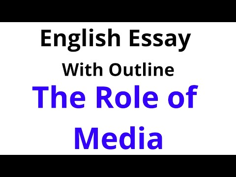 """English Essay on  """"The Role of Media"""" for BA and BSc 