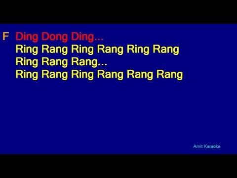 Ek Do Teen - Alka Yagnik Hindi Full Karaoke with Lyrics