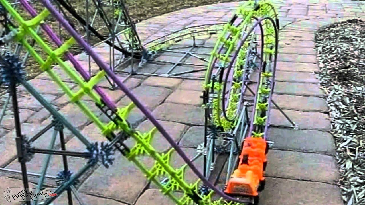 KNEX Screamin Serpant Roller Coaster - YouTube
