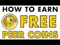 How to earn free Peercoins | Digital Currency Tutorials