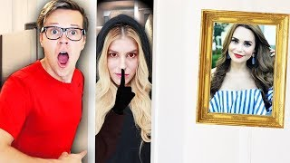 Found RZ Twin during Hide and Seek Chase Challenge in Rosanna Pansino's House! (Game Master Clue)