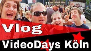Wir beim größten YouTuber-Treffen Europas in Köln // VideoDays Vlog (1/2)