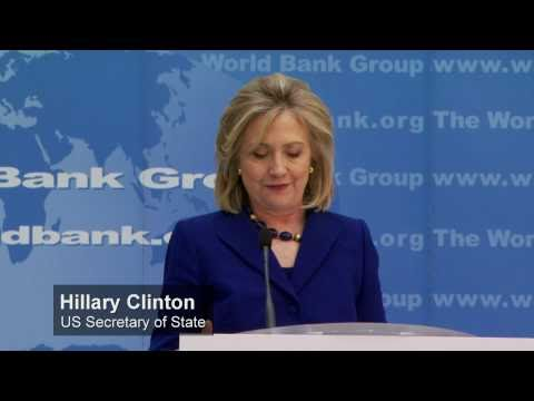 Hillary Clinton Signs US-World Bank Partnership --Saving Lives with Clean Water