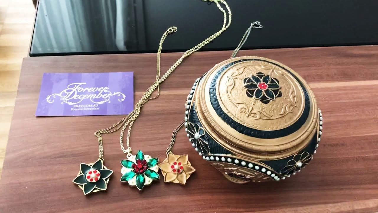 buy good newest competitive price Anastasia music box necklace update togehter in paris - YouTube