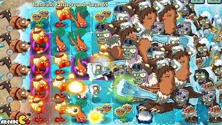 Plants vs Zombies 2: Frostbite Caves Part 2 Icebound Battleground Level 55 Epic Battle!