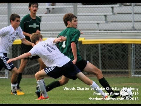 Woods Charter celebrates win over Wake Christian Academy in soccer, 3-2