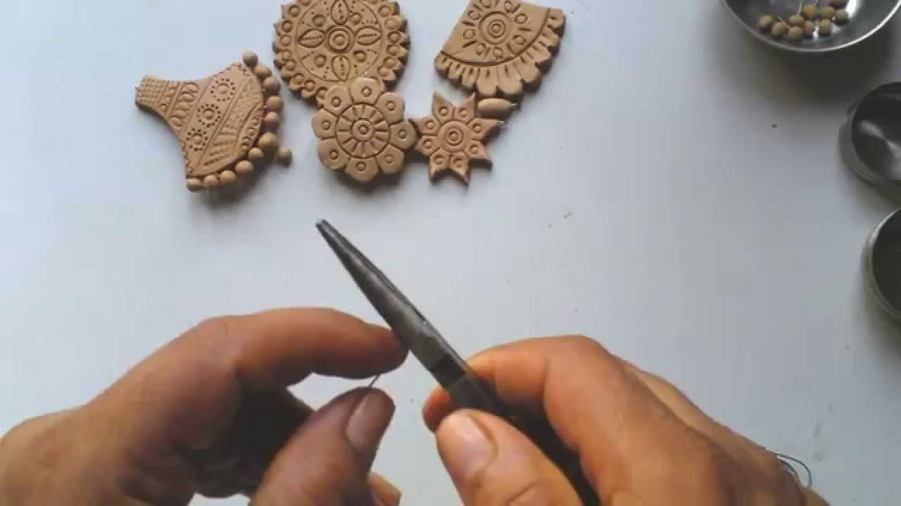 terracotta or clay jewellery making how to make drops step 1 youtube. Black Bedroom Furniture Sets. Home Design Ideas
