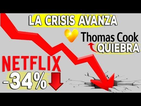 Netflix se hunde en bolsa -30% - Quiebra de Thomas Cook, 600.000 afectados