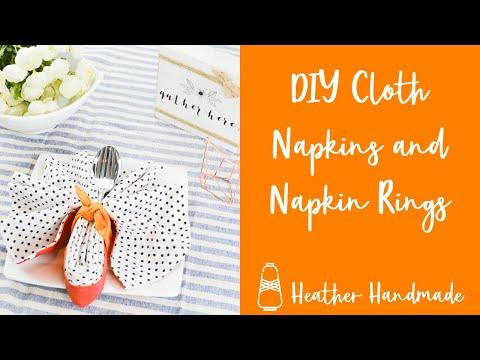 DIY Cloth Napkins and DIY Napkin Rings