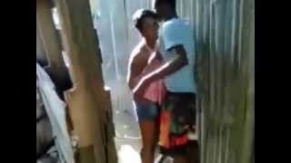 Jamaican Girl gets ROUGH treatment from her MAN