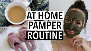 AT HOME PAMPER ROUTINE + Healthy Snack Idea!