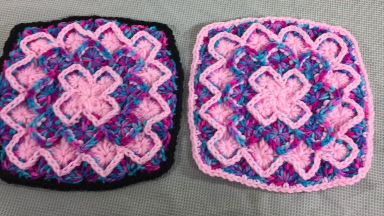 Bavarian Stitch Crochet Afghan Blanket