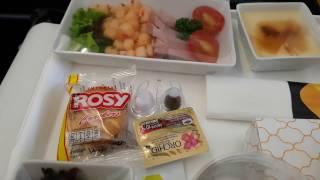 Вкусный обед с вином на борту самолёта Tomas Cook Airlines 🛫. (Улучшенный эконом-класс)