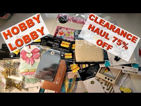 Hobby Lobby 75% Off Clearance Sale