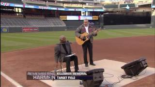 "Jim ""Mudcat"" Grant sings ""What a Wonderful World"" at Harmon Killebrew Memorial"