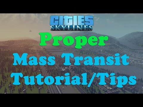 Cities: Skylines- Mass Transit Tutorial/tips (editing line colors, buses, metros and more)
