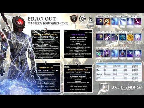 Magic Sorcerer PvP Build [Frag Out] for One Tamriel - Part 1