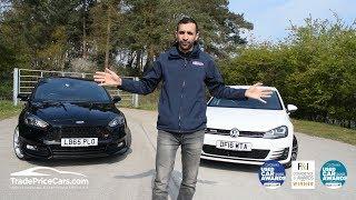 VW Golf GTD vs Ford Focus ST3 Diesel - Diesel Hot Hatch Battle!