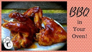 How to Make Baked Barbecued Chicken Wings! An Easy, Healthy BBQ in Your Oven!