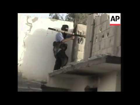 Gunbattle Between Palestinian Gunmen And Israeli Soldiers