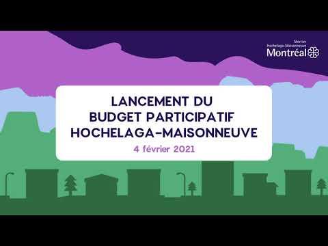Séance d'information - Lancement de la démarche du budget participatif Hochelaga Maisonneuve