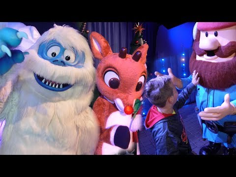 Meet Rudolph, Bumble, & More at Christmas Town Busch Gardens Tampa
