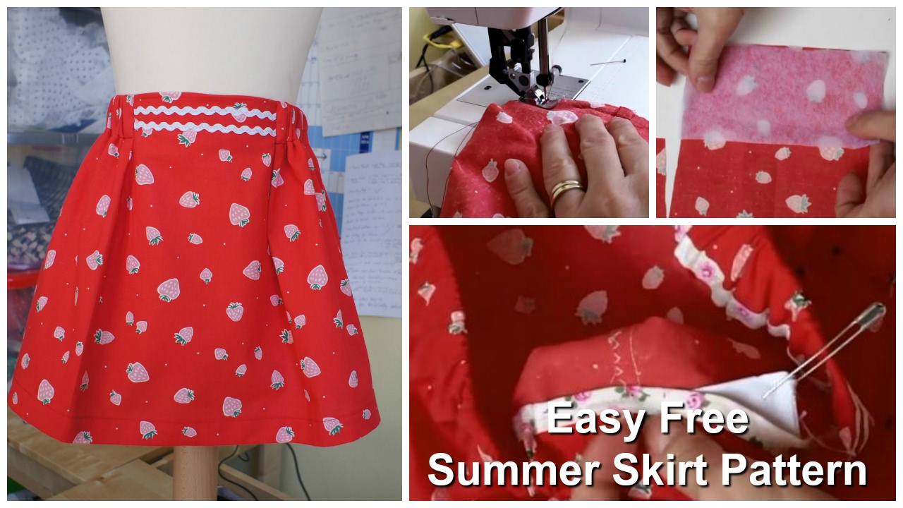 How to sew a Skirt - The Strawberry Skirt - YouTube