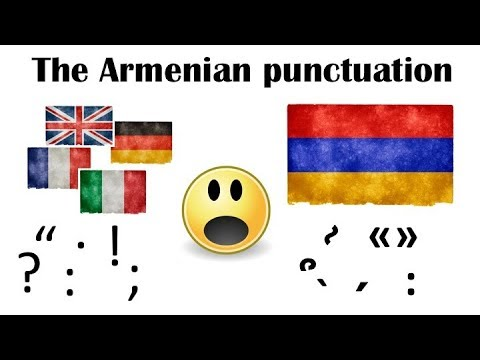 How the punctuation looks like in the Armenian language